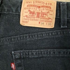 Vintage Levi's 505 black jeans